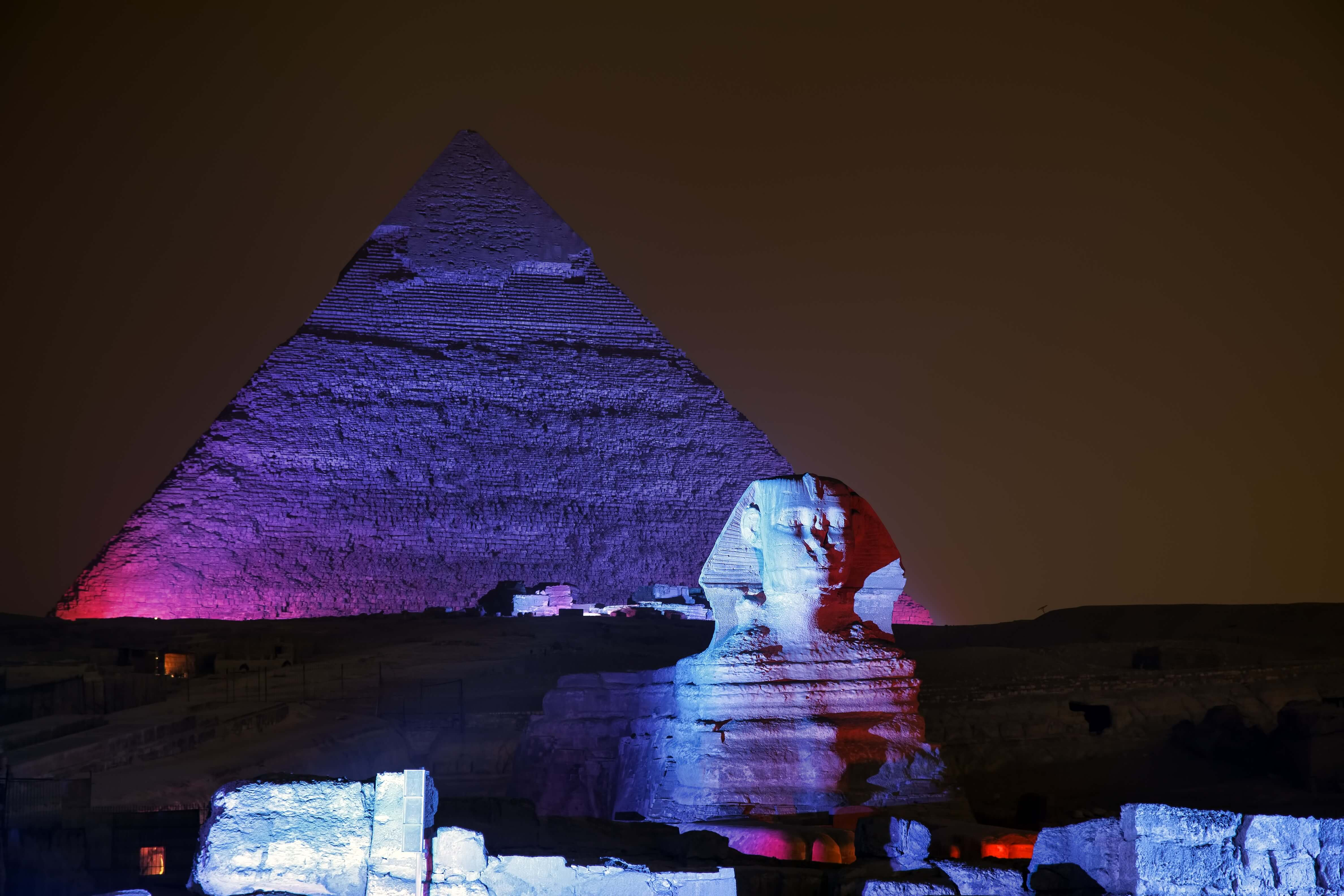 sound and light show at giza pyramids egypt key tours. Black Bedroom Furniture Sets. Home Design Ideas